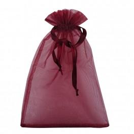 Woreczek tiulowy na prezenty z satynową tasiemką M